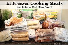 21 Freezer Cooking Meals from Costco | 5DollarDinners.com
