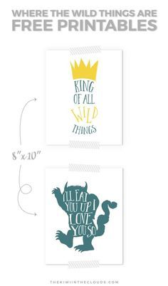 Where The Wild Things Are FREE Printable Art | Click through to download your free copies of this amazing and timeless children's book for your kid's room or nursery.