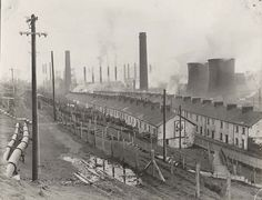 ebbw vale steel works - Google Search Wales Language, Old Pictures, Old Photos, Building Extension, Cymru, South Wales, Homeland, 19th Century, Britain
