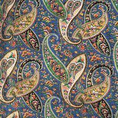 Donna @donnaflower Instagram photos | Websta Textile Pattern Design, Textile Patterns, Textile Prints, Pattern Paper, Paisley Art, Paisley Design, Paisley Pattern, Paisley Color, Vintage Instagram