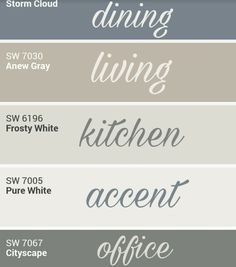 Sherwin Williams whole home palette. by cara – Sherry Pittillo Sherwin Williams whole home palette. by cara Sherwin Williams whole home palette. by cara