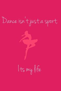 Never take dance for granted. Some kids have to take it a rec center, and by what I've heard, it's not the best experience. Dance to express who you are, not to make others jealous that you have all three splits. I'm so GLAD I have the oppourtunity to go to dance twice a week, four classes a week. I'm GLAD that I get to give my skills back to God, because He gave me the wonderful passion for dance.