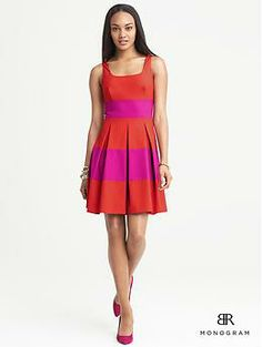 Recent additions to my wardrobe: BR Monogram Rugby-Stripe Dress   Banana Republic looks just like a kate spade :0