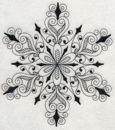 RP: Machine Embroidery: Snowflake Symphony 3 (Blackwork)