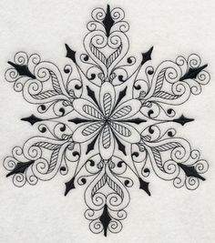RP: Machine Embroidery: Snowflake Symphony 3 (Blackwork)