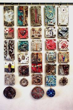 A grouping of some handmade ceramic tiles! Clay Wall Art, Ceramic Wall Art, Ceramic Clay, Ceramic Painting, Tile Art, Cerámica Ideas, Pottery Lessons, Inspiration Artistique, Ceramic Workshop