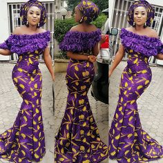 More Aso Ebi Styles You Need to See This WeekLatest Ankara Styles and Aso Ebi Styles 2020 African Dresses For Women, African Print Dresses, African Print Fashion, African Attire, African Wear, African Fashion Dresses, African Women, Ankara Fashion, Latest Ankara Gown