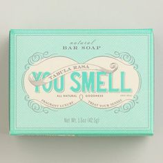 One of my favorite discoveries at WorldMarket.com: You Smell Radiant Mini Bar Soap For Xander