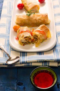 La cocina de Frabisa: Rollitos Primavera.HORNEADOS. Receta.