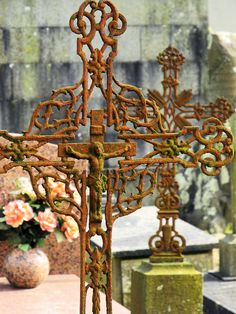 iron crosses in Brest Cemetery, northern France