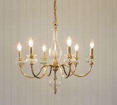 Jasmine Glass Chandelier | Pottery Barn