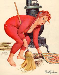 Duane Bryers - Hilda Cleaning Up <3 #pinup