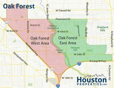 Map of Houston and surrounding cities MAPS Houston Texas