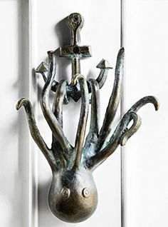 Octopus With Ship Anchor Door Knocker