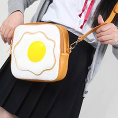 2016 PU Leather Poached Eggs Lolita Bags Women Messenger Bag Girls Small Fried Eggs Cute Bags Child Funny Crossbody Bag L385 #clothing,#shoes,#jewelry,#women,#men,#hats,#watches,#belts,#fashion,#style