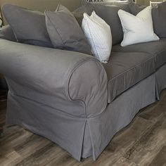 Grey Denim Fabric: 7 Favorites for Washable Slipcovers, Couch covers Denim Furniture, Furniture Covers, Sofa Furniture, Metal Furniture, Furniture Design, Victorian Furniture, Furniture Online, Furniture Outlet, Cheap Furniture