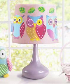 Bright owls lamp shade 2500 via etsy cute things people cute owl lamp aloadofball Choice Image