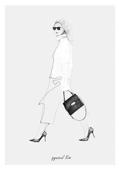 Fashion illustration - chic fashion sketch // Kim Gyu-Seul