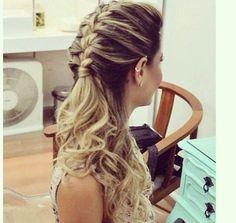 Half braid and curls