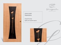 handmade wooden door_code: flower / by Georgiadis furnitures#handmade #wooden #door #marqueterie Doors, Marquetry, Gate