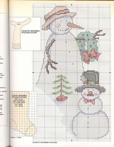 Mary Engelbreit Cross Stitch for all seasons    stocking