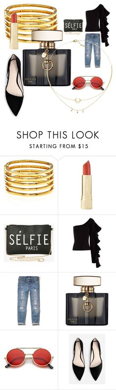 """""""My First Polyvore Outfit"""" by karla-perez-hernandez ❤ liked on Polyvore featuring Kenneth Jay Lane, Torrid, Beaufille, Hollister Co., Gucci, ZeroUV and MANGO"""