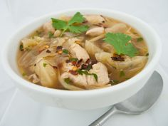 Asian Chicken & Cabbage Soup Phase II (VCLD) & beyond Our most popular soup! Chicken And Cabbage, Asian Chicken, Cabbage Soup, Healthy Meals, Healthy Recipes, Hcg Diet, Fresh Vegetables, Feel Better, Gourmet Recipes
