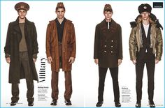 British GQ pulls out the theatrics while showcasing fall-winter 2016's military trend.