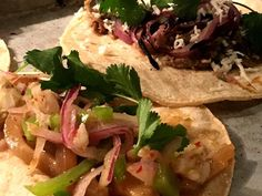 Tonight's Tacos  Pig skin taco hominy salsa and grilled turkey and red onion taco @tmaws by tapandtrotter March 14 2016 at 10:31AM