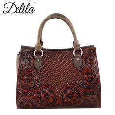 Delila 100% Genuine Leather Tooled Collection (LEA-6017) – Handbag-Addict.com