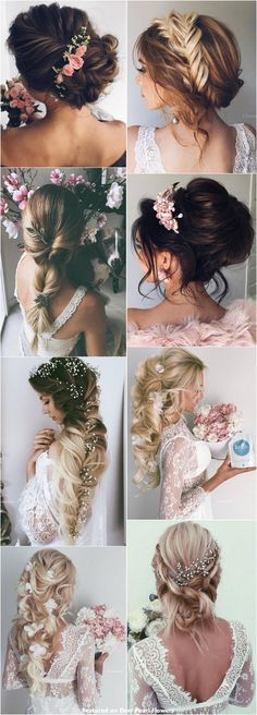 65 New Romantic Long Bridal Wedding Hairstyles to Try / Ulyana Aster www. 65 New Romantic Romantic Short Hair, Short Wedding Hair, Wedding Hair Down, Wedding Hair And Makeup, Bridal Hair, Trendy Wedding, Best Wedding Hairstyles, Bride Hairstyles, Pretty Hairstyles