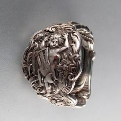 CHERUB ring victorian STERLING SPOON ring putti by SpoonJewelry, $125.00