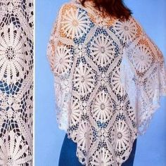 Fine lace #Crochet shawl from +وردة باسل