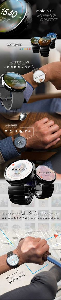 The Top 5 High End SmartWatches Compared MOTO 360 UI Concept