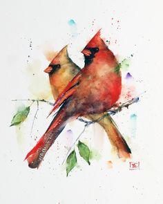 Dean's Art - Birds - Page 1 - The Art of Dean Crouser Watercolor Trees, Watercolor Animals, Watercolor Print, Watercolor Illustration, Watercolor Paper, Watercolor Paintings, Simple Watercolor, Tattoo Watercolor, Watercolor Landscape