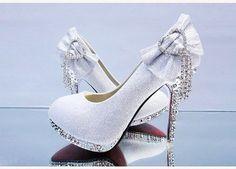 wedding shoes platform #wedding #shoes #weddingshoes Kathy Rhinestone High-heeled Shoes Wedding Shoes
