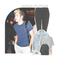 """☾ Arriving at LAX with Niall ☽  (requested)"" by antisocialmuke ❤ liked on Polyvore featuring Topshop, T By Alexander Wang, adidas Originals, Incase, women's clothing, women's fashion, women, female, woman and misses"