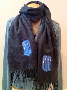 Doctor Who scarf Tardis police box etsy.com