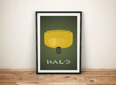 Halo Master Chief Print by GreyFoxDesign on Etsy