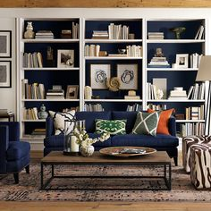 Thom Filicia (love the navy built-ins)