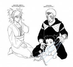 NARUTO - Temari, her brother, Kankuro, and baby Shikadai. Anime Naruto, Sasuke, Naruto Gaiden, Naruto Oc, Naruto Funny, Naruto Shippuden Anime, Anime Manga, Shikadai, Shikatema