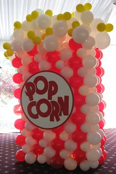 Popcorn Balloon Sculpture Carnival Themed Popcorn Balloon Sculpture