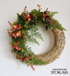 18662 - STOKLASA textilní galanterie Grapevine Wreath, Grape Vines, Floral Wreath, Wreaths, Home Decor, Floral Crown, Decoration Home, Door Wreaths, Room Decor