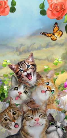 Solve So cute jigsaw puzzle online with 18 pieces Baby Animals Pictures, Animals And Pets, Cute Animals, Cat Wallpaper, Animal Wallpaper, Cat Selfie, Crazy Cats, Cat Art, Pet Birds