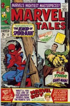 "Later issues of ""Marvel Tales"" would just be about Spidey! Until then, also featuring Thor, Giant-Man and Marvel Boy, the crusader of between the Golden and Silver Ages!"