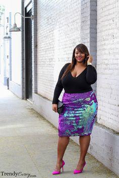 Stylish Plus-Size Fashion Ideas – Designer Fashion Tips Plus Size Fashion Blog, Plus Size Fashion For Women, Curvy Women Fashion, Plus Size Womens Clothing, Womens Fashion, Tight Dresses, Plus Size Dresses, Plus Size Outfits, Peplum Dresses