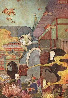 No larger size available Art Manga, Art Anime, Anime Kunst, Manga Anime, Art And Illustration, Mononoke Anime, Character Art, Character Design, Hotarubi No Mori