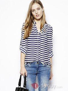 Camisa de rayas marineras #Moda #Mujer #Look #Tendencias