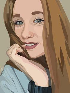 Clara / vector art / made by @hef