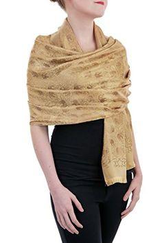"Opulent Luxury Pashmina Scarf Shawl Wrap Reversible 100% Silk Soft Beige & Gold 72"" x 27"" Opulent Luxury http://www.amazon.com/dp/B018KJEC7Y/ref=cm_sw_r_pi_dp_uLNWwb025C4J0"